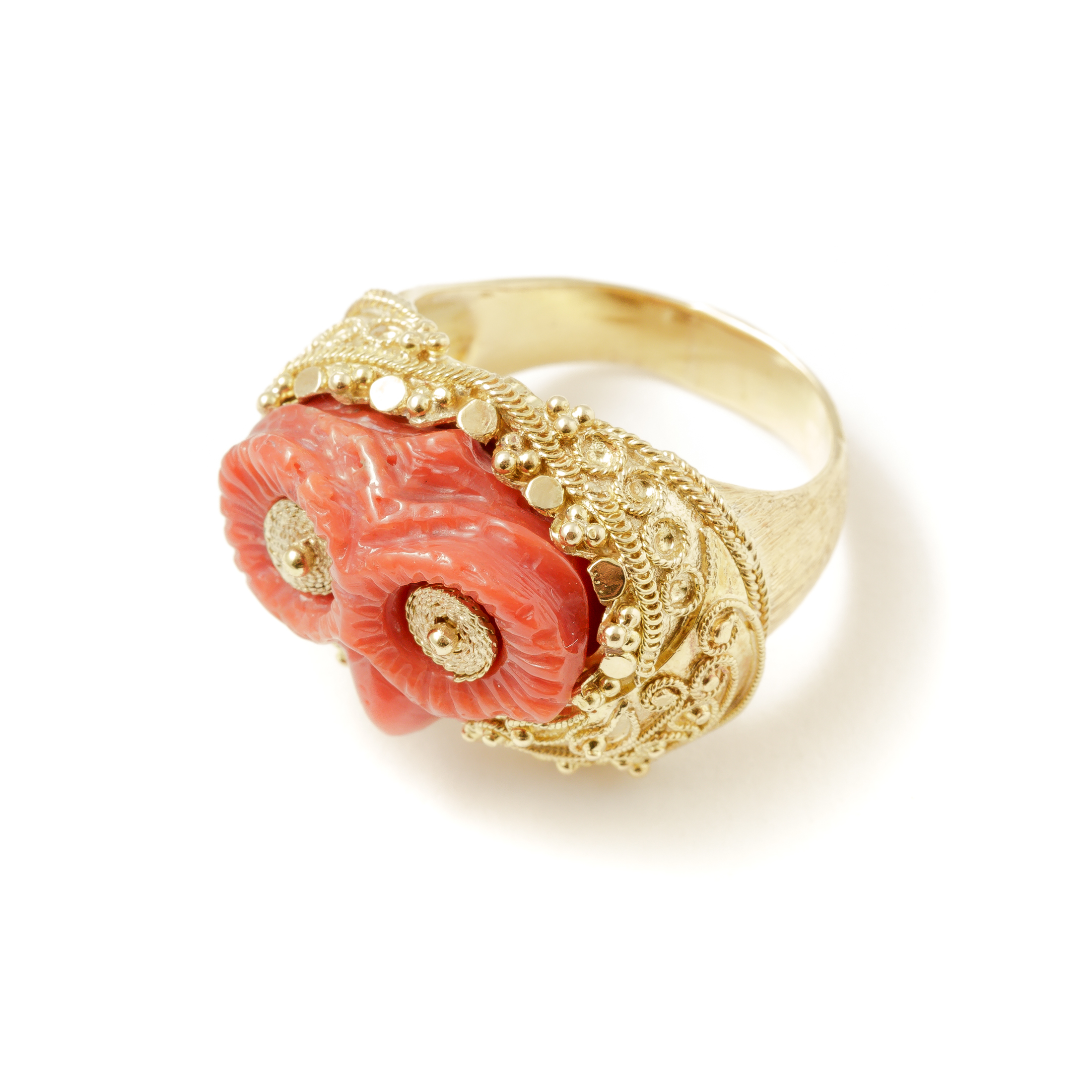 category rose engagement and coral rambling rings california vintage orange estate in
